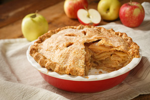 Picture apple pie.