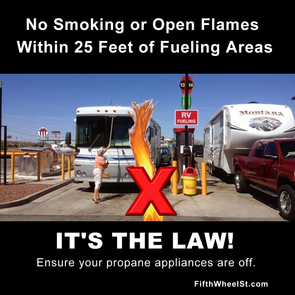 no open flames while fueling poster