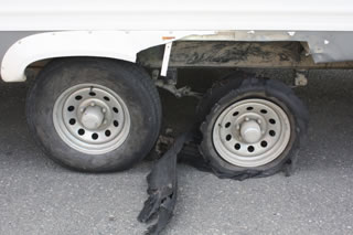 tire blowout on rv
